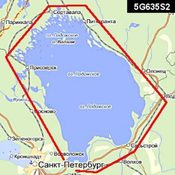 карта глубин ладожского озера для lowrance