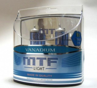 MTF Light Vanadium 5000K H8 H11 HB3 HB4 H27