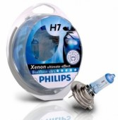 PHILIPS H7 (55) PX26d Blue Vision Ultra 4000K (2шт+2шт W5W) 12V