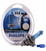 PHILIPS H4 (60/55) P43t-38 Blue Vision Ultra 4000K (2шт+2шт W5W) 12V PHILIPS 12342BV2