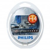 PHILIPS H4 (60/55) P43t-38 Diamond Vision 5000K (2шт) 12V 12342DV2