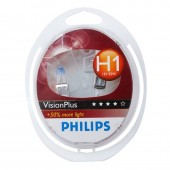PHILIPS H1 (55) P14.5s Vision Plus +60% (2шт) 12V 12258VP2